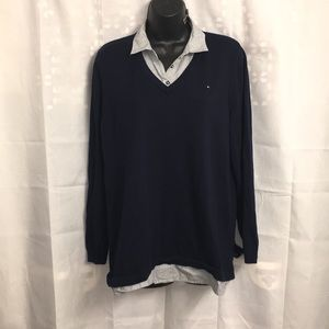Tommy Hilfiger faux layered sweater